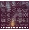 Labels and design elements vector