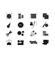 Needlework icons for sewing knitting needlework vector