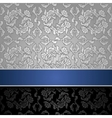 Seamless decorative background silver with a blue vector