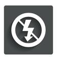No photo flash sign icon lightning symbol vector