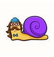 Hipster snail vector