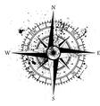 Wind rose ink blots vector