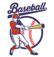 Baseball player hitting the ball vector