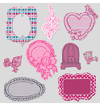 Set of cute doodle frames vector