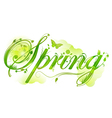 Floral spring text vector