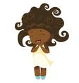 Kawaii afro princess vector