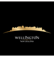 Wellington new zealand city skyline silhouette vector