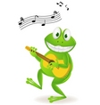 Frog playing music vector