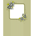 Square frame with flowers on striped background vector