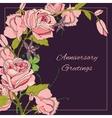 Vintage flowers background vector