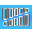 Set of 3d shelves vector