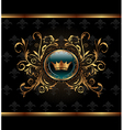 Gold invitation frame or packing for elegant desig vector