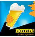 Cheers beer background vector