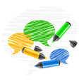 Scribbled speech bubles vector
