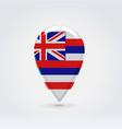 Hawaiian icon point for map vector