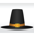 Pilgrim hat vector