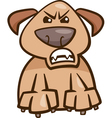 Mood furious dog cartoon vector