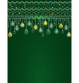 Green card with christmas balls vector