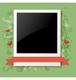 Green vintage background with photo vector