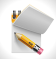 Open notepad with pencil xxl icon vector