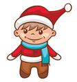 Santa boy vector