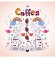 Coffee fun cartoon vector
