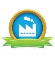 Gold factory logo vector