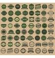 Racing badges - vintage style big green set vector