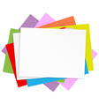 Empty colored papers vector