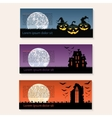 Set of three halloween banners vector