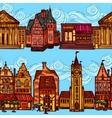 Sketch city seamless border vector