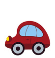 Toy car icon vector