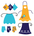 Retro apron set isolated on white vector