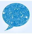 Social media doodle icons vector