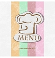 Restaurant menu design retro poster vector
