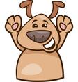 Mood happy dog cartoon vector