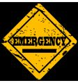 Emergency sign vector