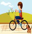 Child-bike vector