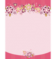 Frame with flowers on background with dots vector