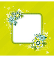 Square frame with flowers on green background vector