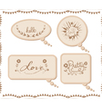 Vintage cardboard bubbles collection vector
