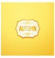 Autumn badge design vector