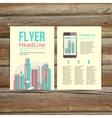 Abstract brochure flyer design template vector