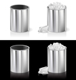 Metal rubbish bin vector