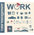 Time management business icons vector