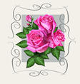 Roses vintage copy vector
