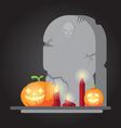 The spooky old tombstone halloween vector