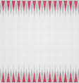 Red triangles border seamless pattern vector