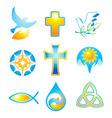 Collection religious symbols vector