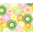 Abstract fruit background vector
